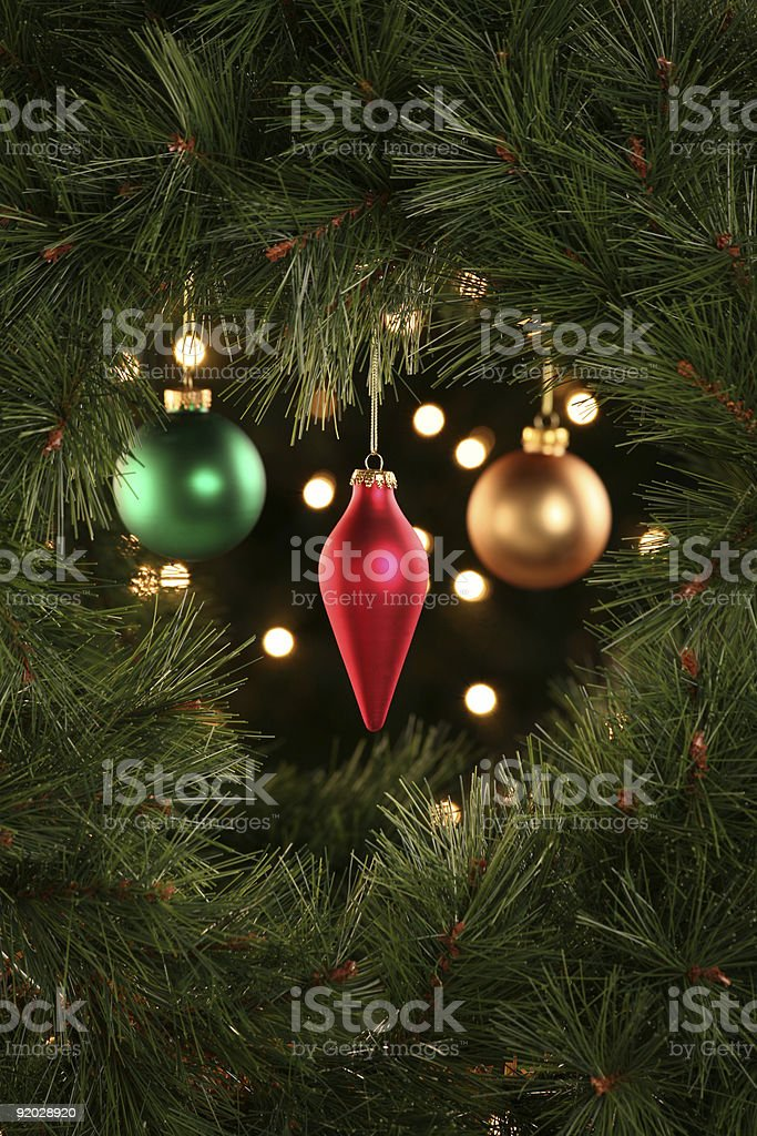 Christmas Ornament Scene stock photo