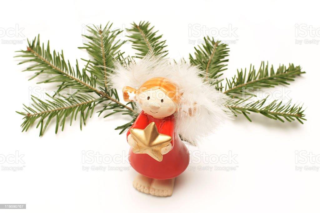 Christmas ornaments, Angel royalty-free stock photo
