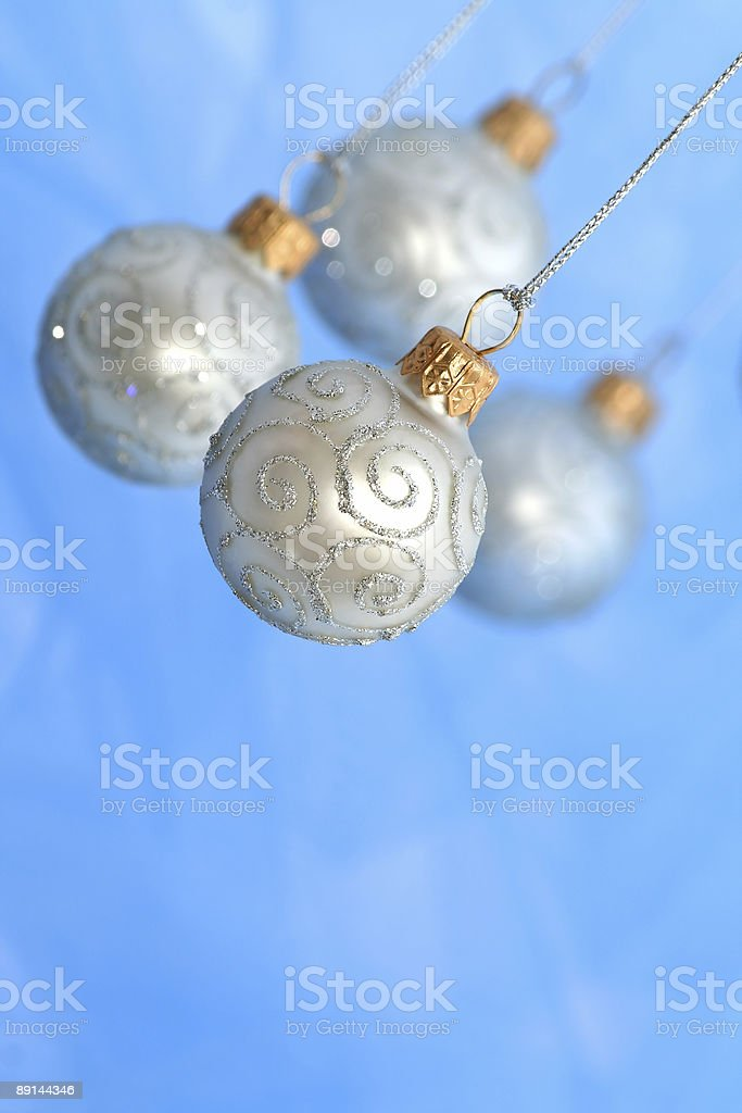 Christmas Ornaments / Balls / Selective focus / with copy space royalty-free stock photo