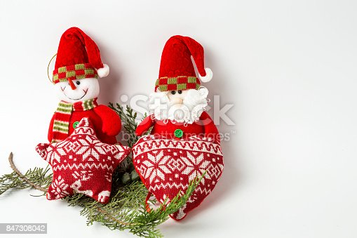 istock Christmas ornaments. Balls. Toys. Santa claus; Candles; Gifts; 847308042