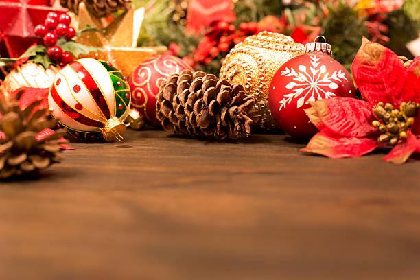 Christmas ornaments, decorations ready for holiday season. - Photo