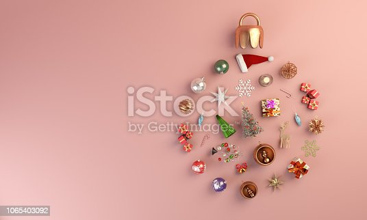 istock Christmas Ornaments - New Year Concept 1065403092