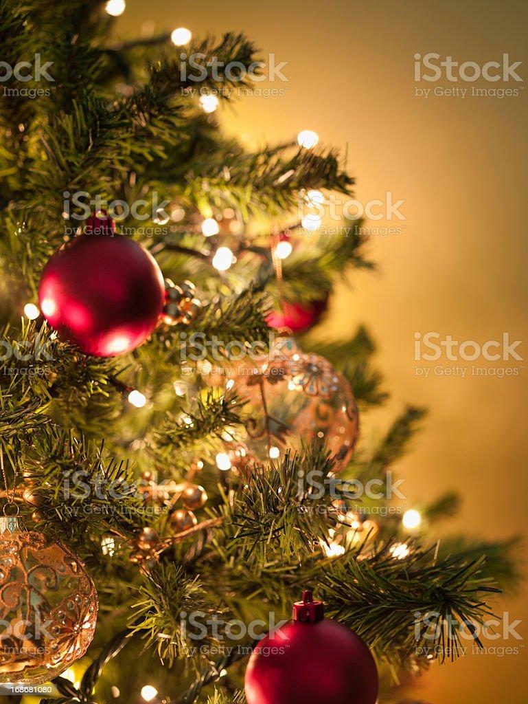 Christmas ornaments on tree royalty-free stock photo