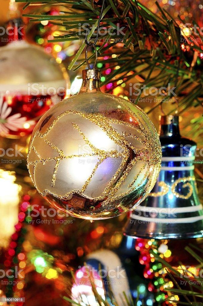 Christmas ornaments on tree. royalty-free stock photo