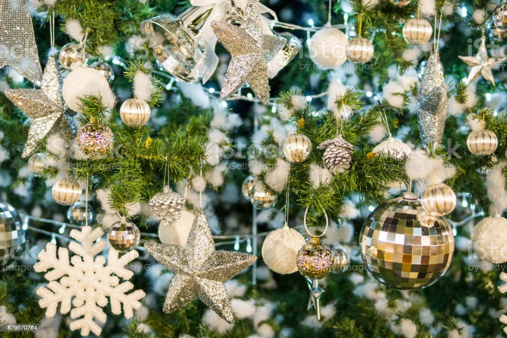 Christmas Ornaments On Tree Stock Photo Download Image Now Istock