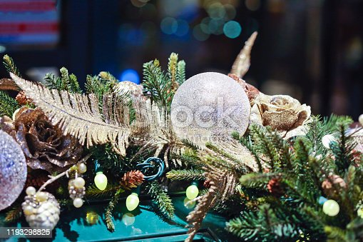 Sphere shaped ornaments and floral items