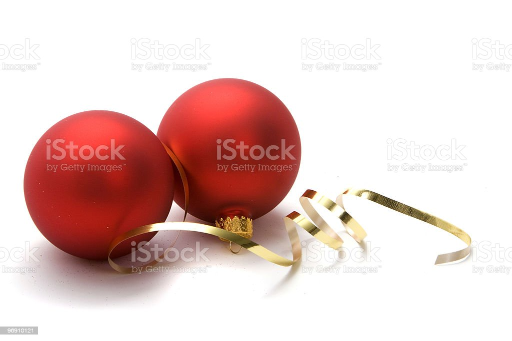 Christmas ornaments with ribbon royalty-free stock photo