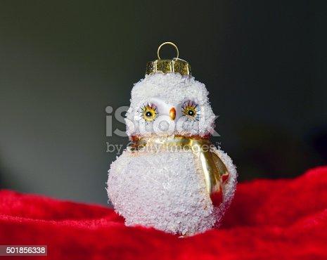 istock Christmas owl 501856338