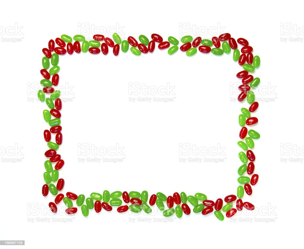 Christmas Page Border.Christmas Page Border Of Red And Green Jelly Beans Stock