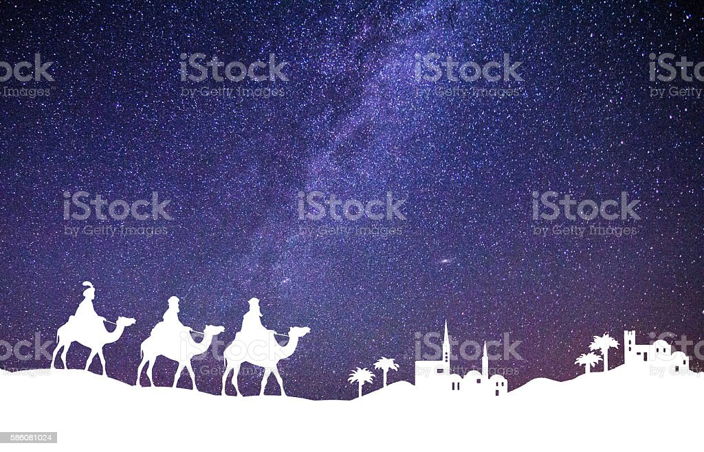 Christmas Palestinian landscape stock photo