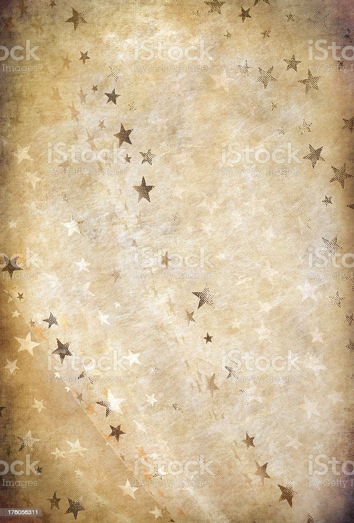 Christmas Paper With Stars royalty-free stock photo