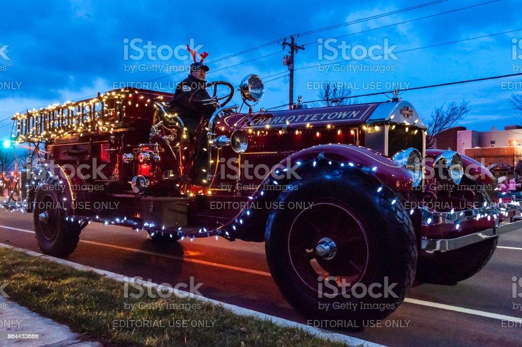 Christmas Parade stock photo
