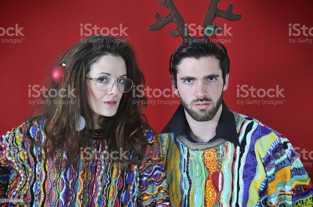 Christmas Party couple royalty-free stock photo