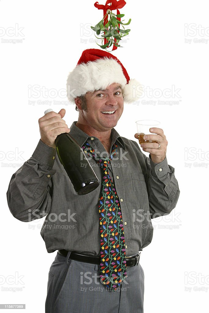 Christmas Party Guy royalty-free stock photo