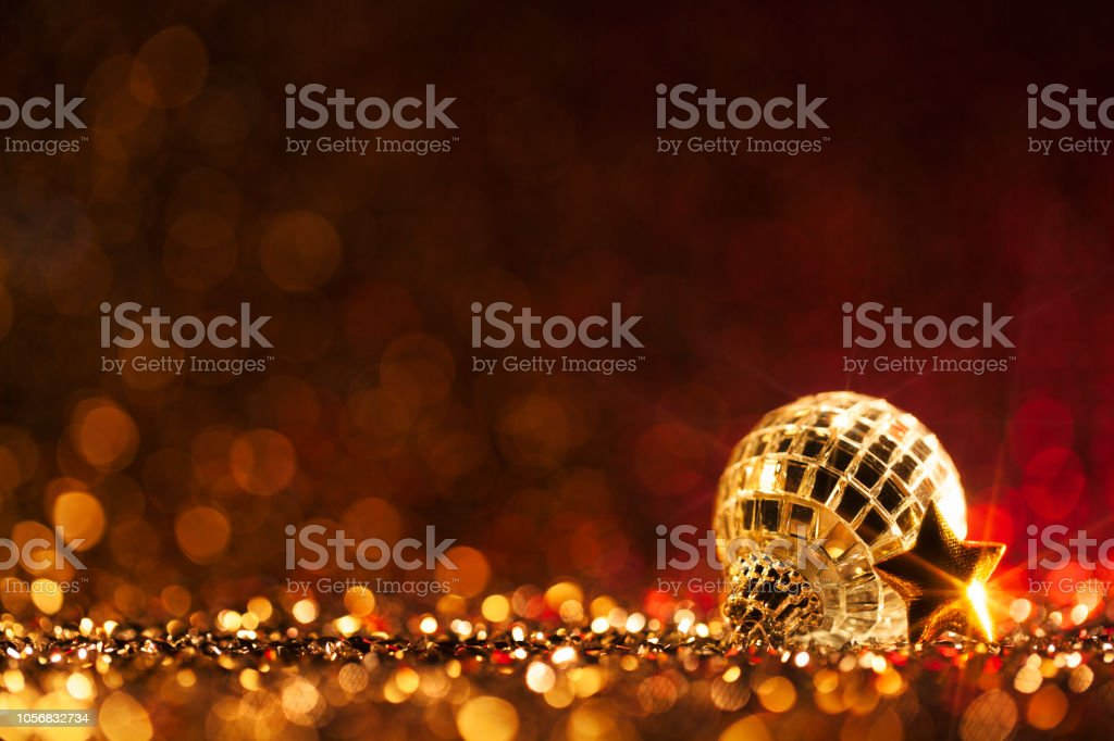 Christmas Party - Red Decoration Defocused Bokeh Background royalty-free stock photo