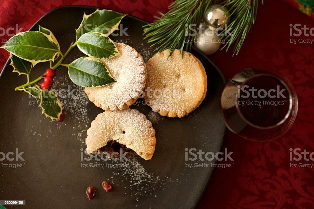 Weihnachten Kuchen und Glühwein und mince pie-Gepäck – Foto