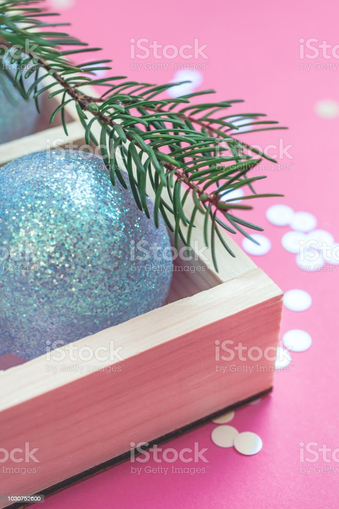 christmas pearl decoration balls pink background royalty free stock photo - The Christmas Pearl