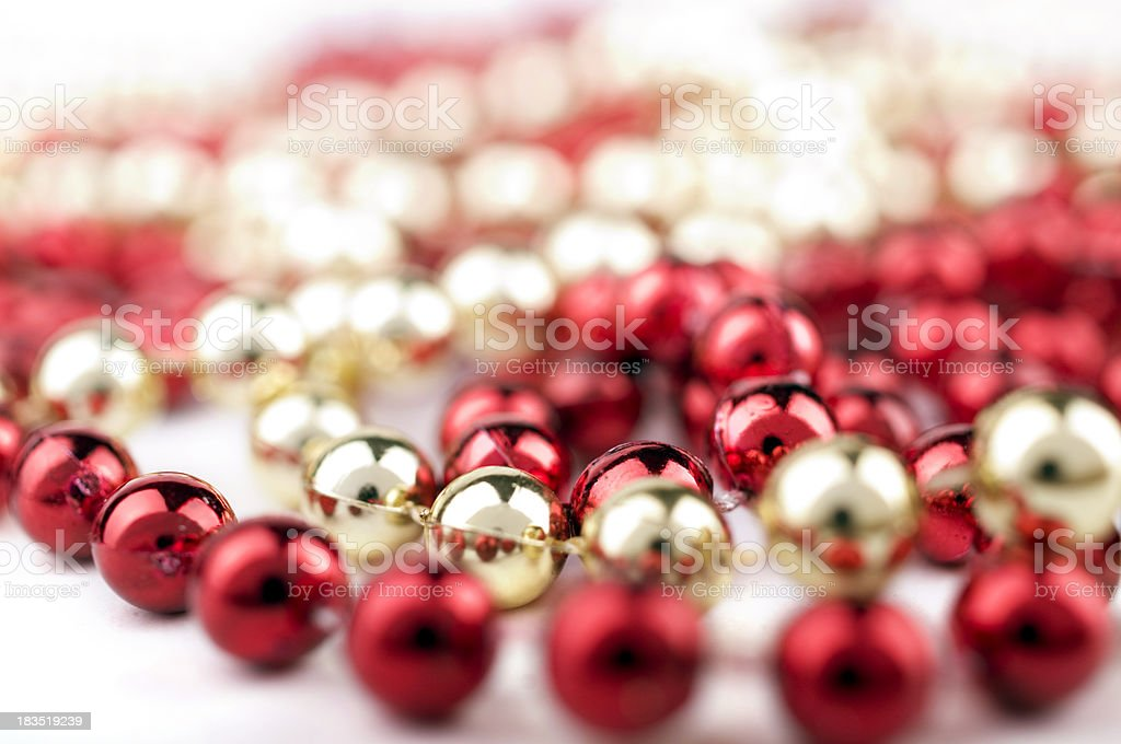 Christmas pearl stock photo