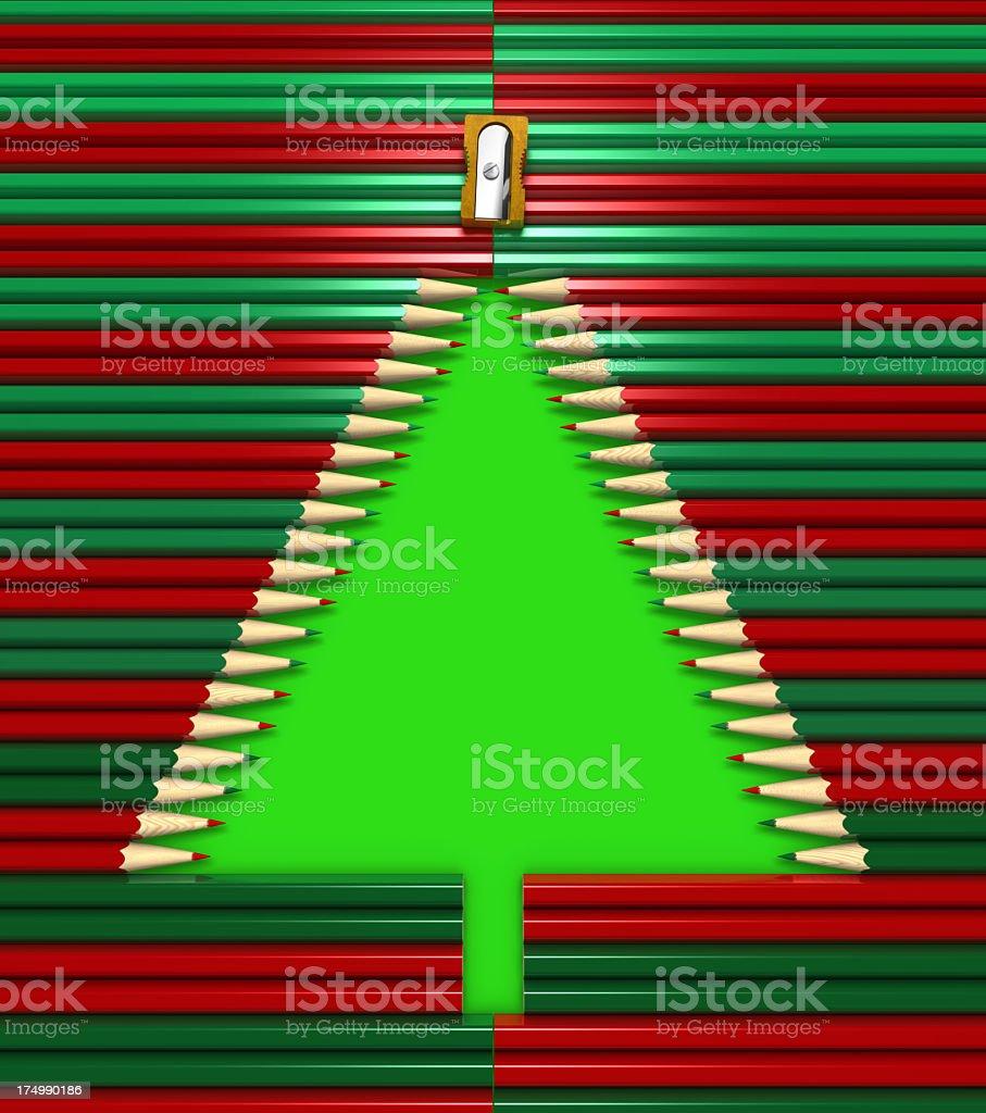 Christmas Pencils stock photo