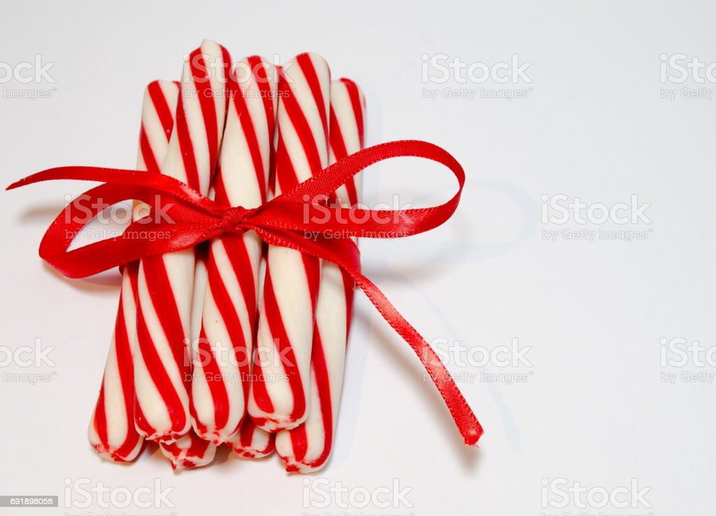 Christmas Peppermint Sticks stock photo