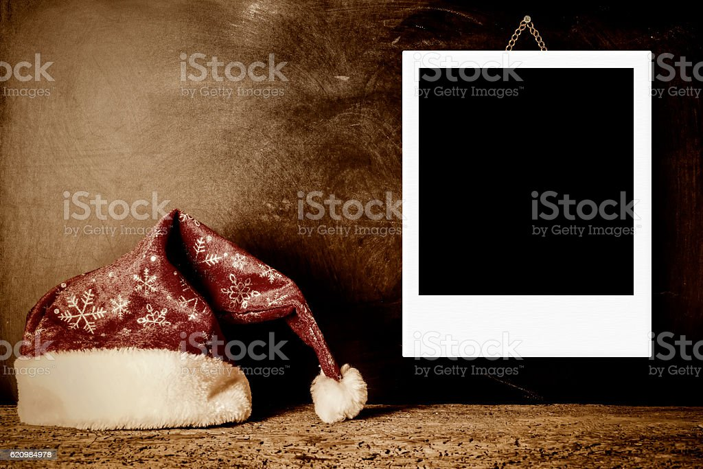 Christmas photo frame for one photo foto royalty-free