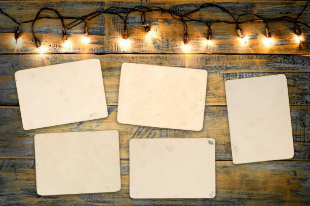 weihnachten foto frame - hintergrund für weihnachtsfotos stock-fotos und bilder