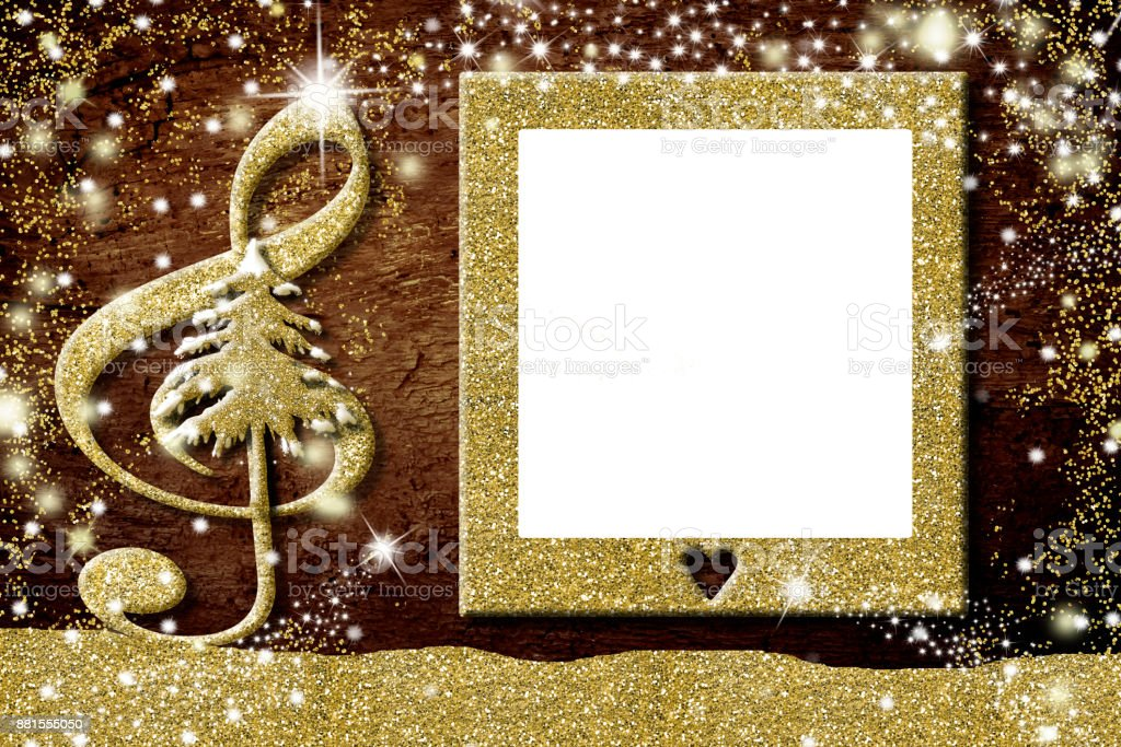 Christmas Photo Frames Music Cards Stock Photo & More Pictures of ...