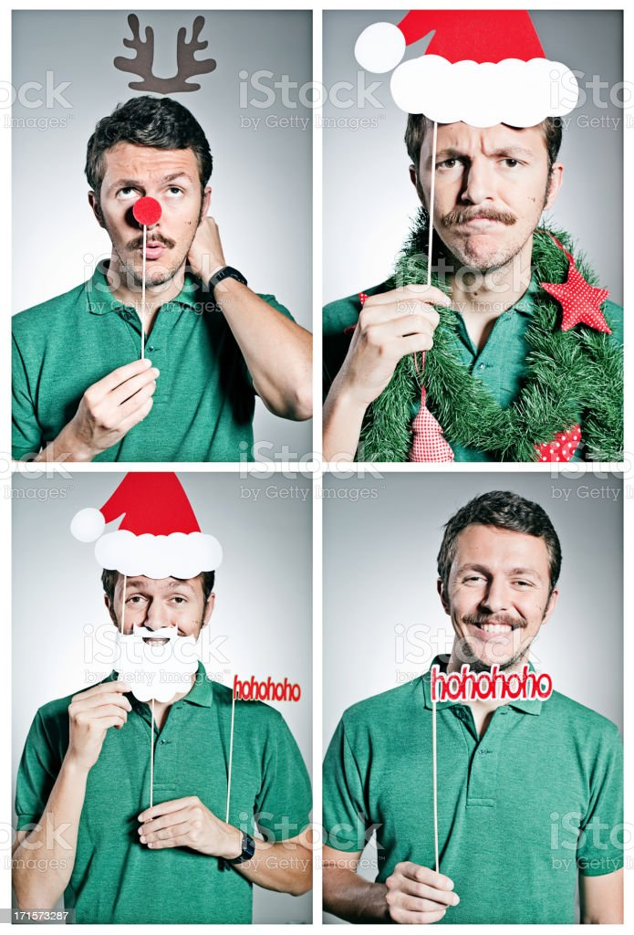 Christmas photobooth stock photo