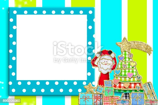 678159134 istock photo Christmas picture frame for children or babies 890205060