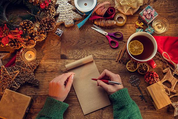 christmas-englische redewendung  - weihnachts wunschliste stock-fotos und bilder