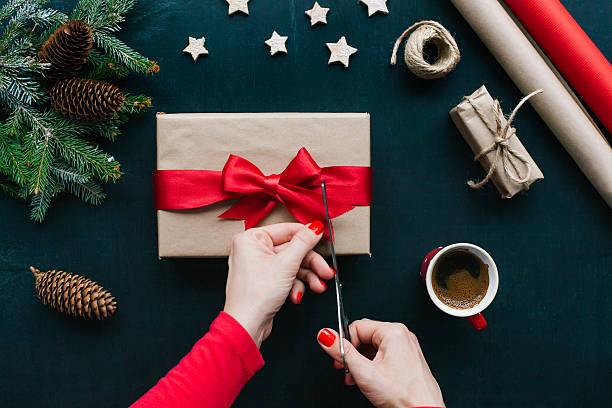 christmas-englische redewendung  - bastelkarton stock-fotos und bilder