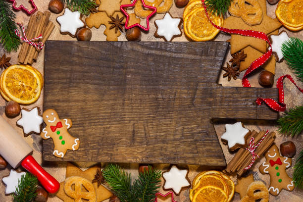 christmas-englische redewendung - backrahmen stock-fotos und bilder