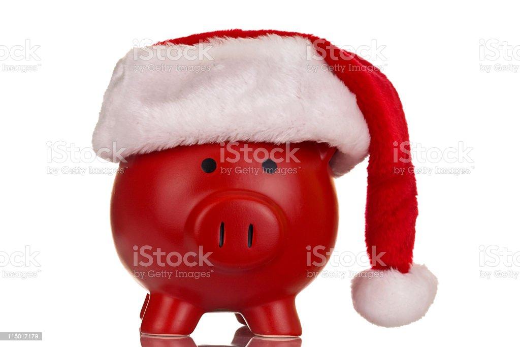 Christmas Piggy Bank royalty-free stock photo