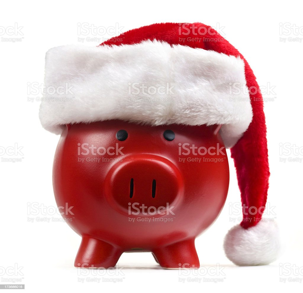 Christmas Piggy Bank royalty-free stock photo