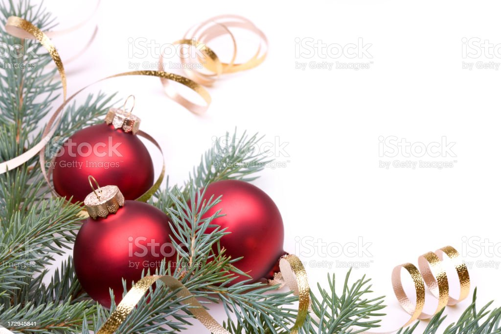 Christmas Pine and Baubles (XXL) royalty-free stock photo