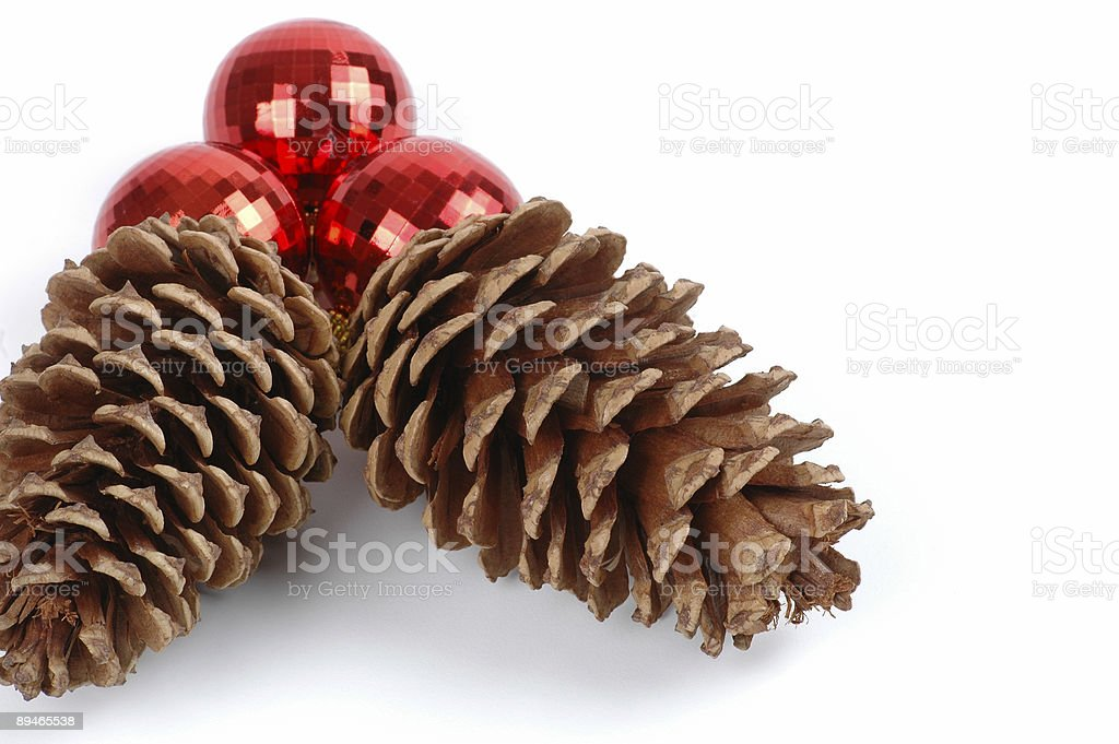 Christmas Pine Cones royalty-free stock photo