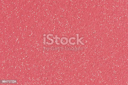 istock Christmas pink background with glitter.  Low contrast phot 864717204
