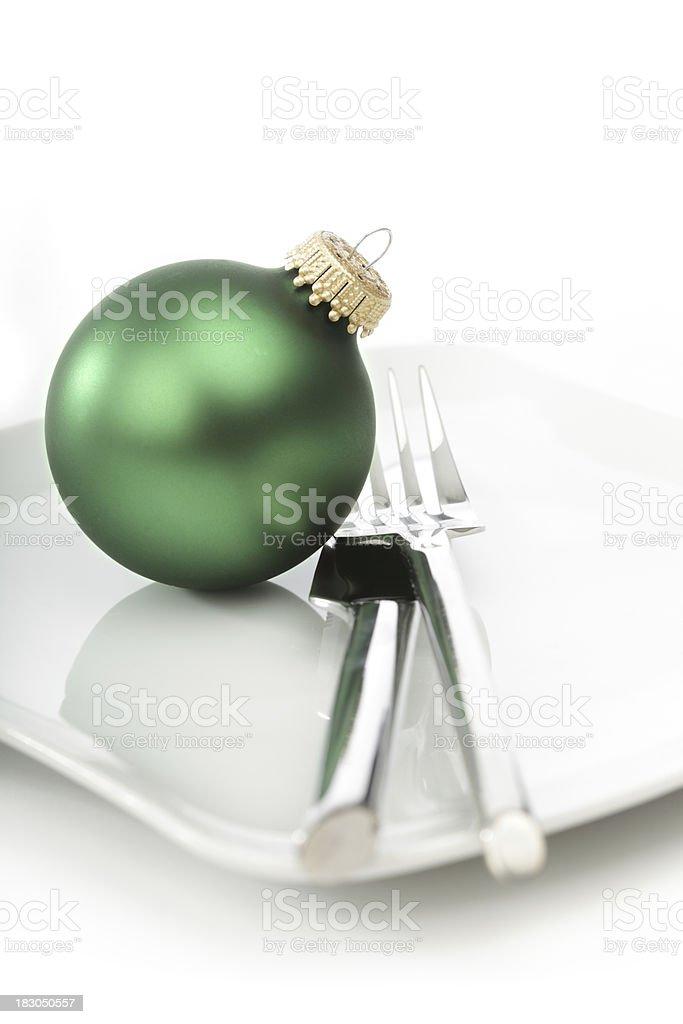 Christmas Place Setting royalty-free stock photo