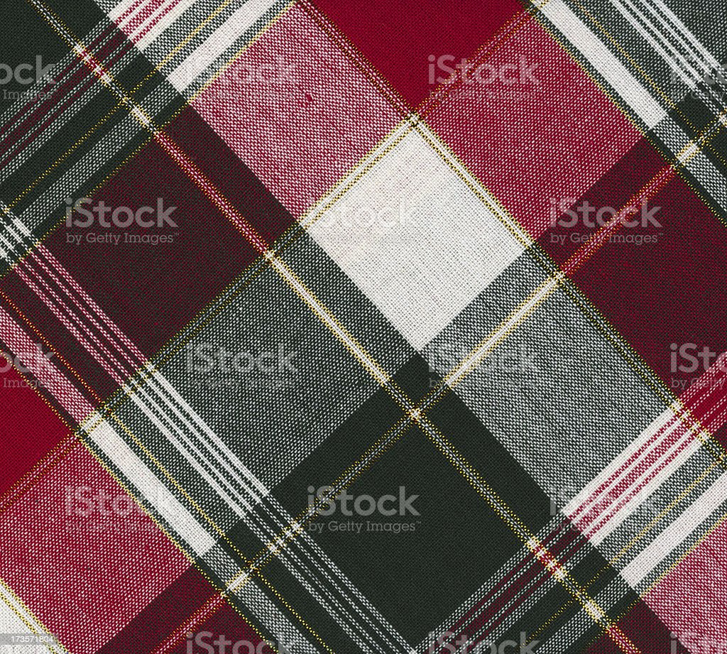 Christmas plaid fabric royalty-free stock photo