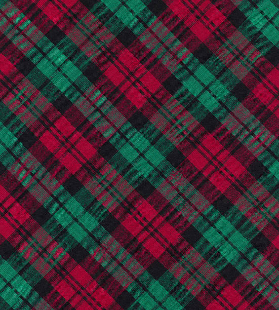 Christmas plaid fabric This high resolution Christmas inspired stock photo is ideal for Christmas cards, party invitations, prints, websites and many other holiday style art image uses!  plaid stock pictures, royalty-free photos & images