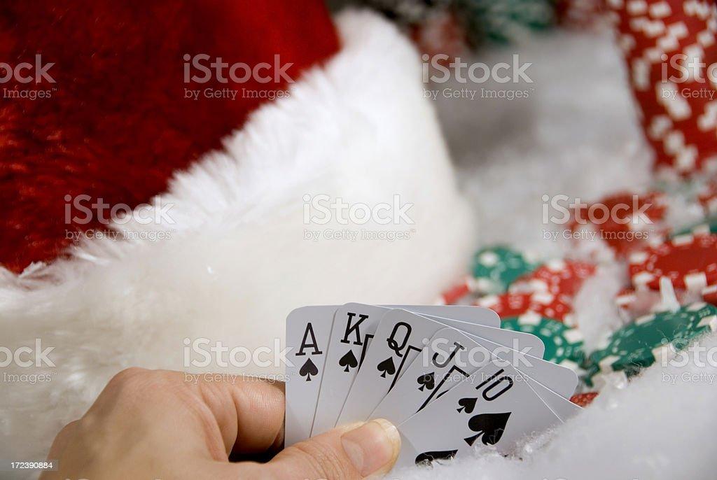 Christmas Poker royalty-free stock photo