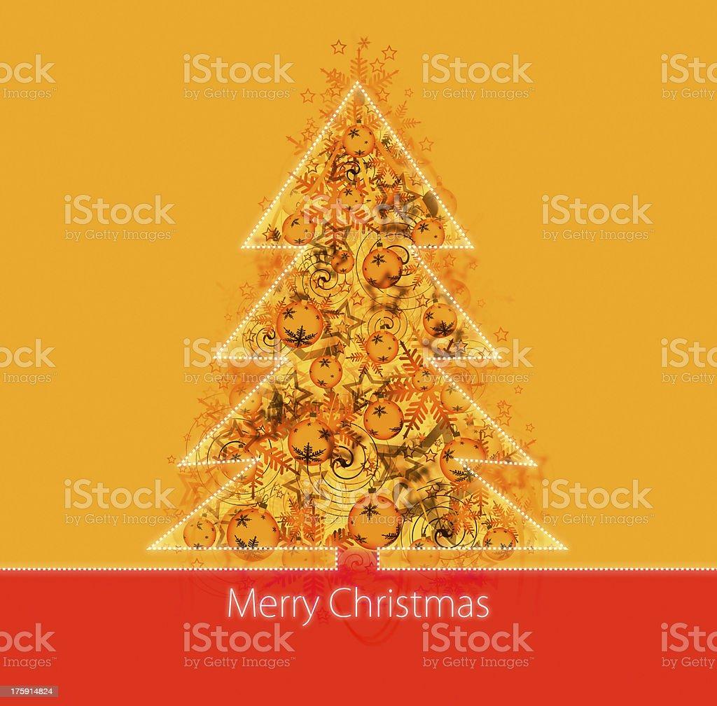 Christmas postcard royalty-free stock photo