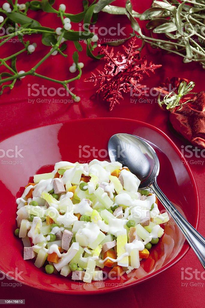 Christmas potato salad royalty-free stock photo