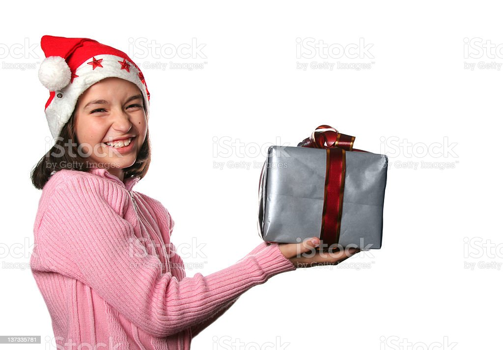 Christmas present stock photo