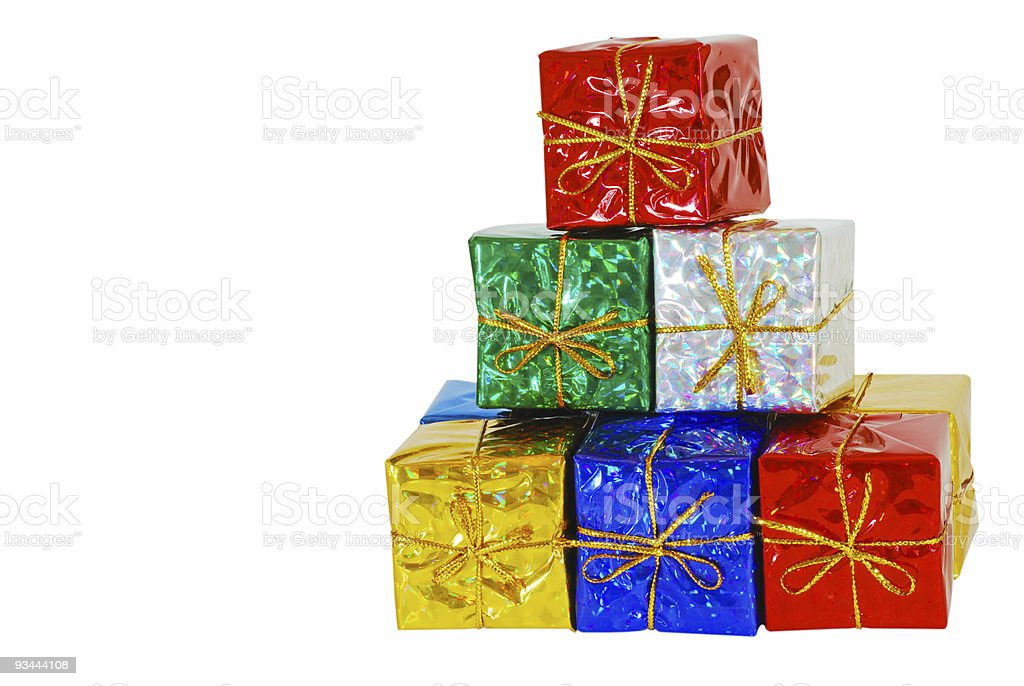 Christmas Present Stack royalty-free stock photo