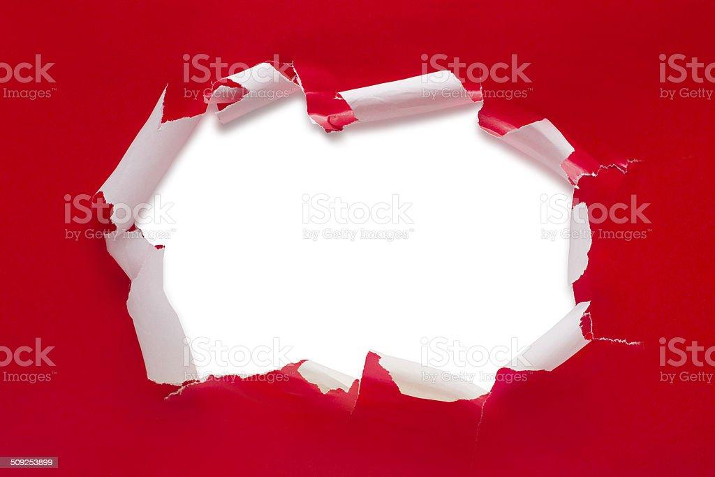Regalo de navidad Rasgado abierto - foto de stock