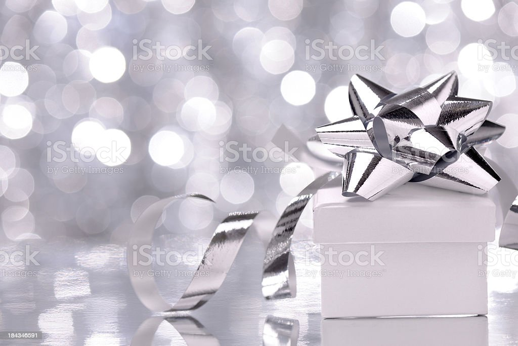 Christmas present with illuminated background royalty-free stock photo