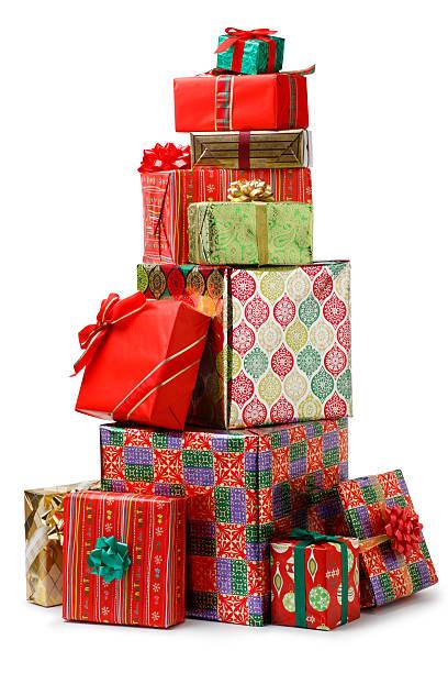 christmas presents - yığın stok fotoğraflar ve resimler