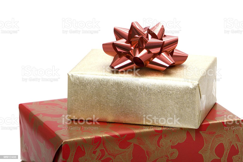 Christmas presents royalty-free stock photo