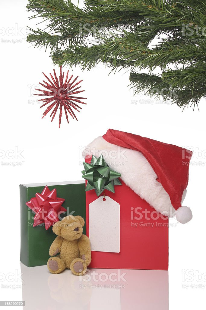 Christmas Presents Under The Tree royalty-free stock photo